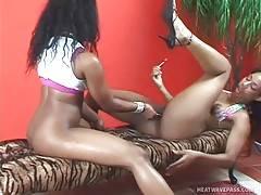 Ebony Lesbians Love To Play Hot Sex Games 3