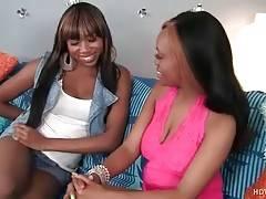 Sexy Ebony Cutie Visits Her Girlfriend 1